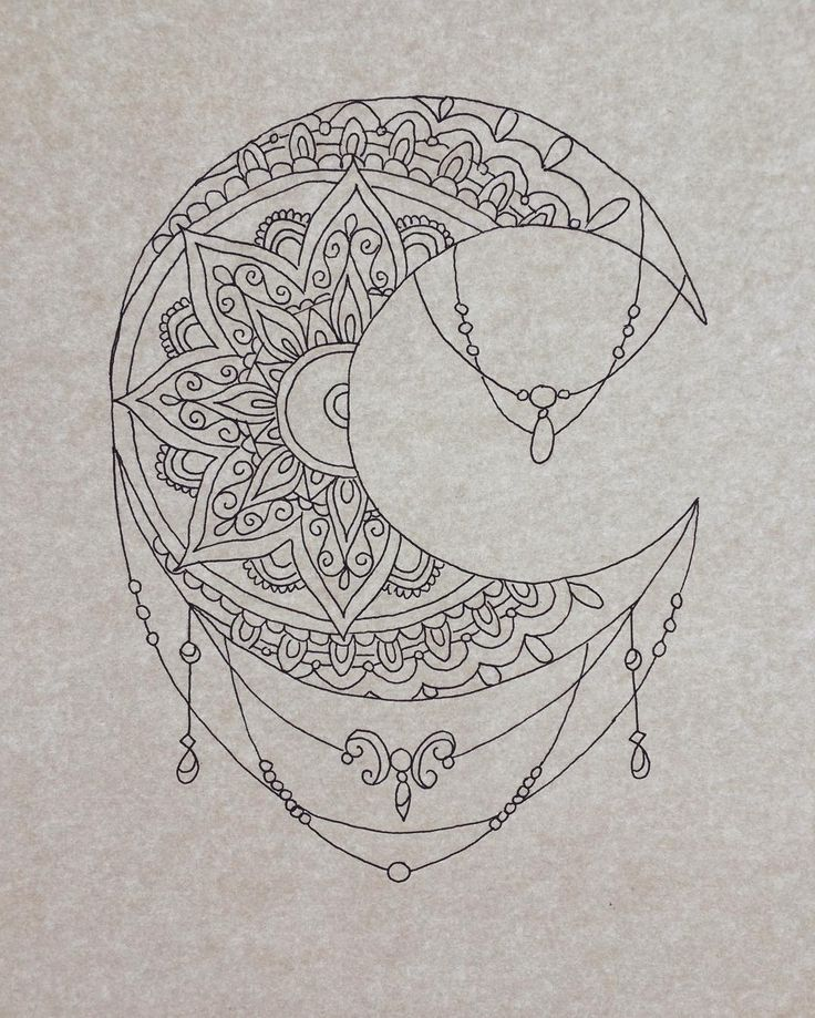Beautiful moon mandala pattern  Credit : https://www.instagram.com/phebemayryder/