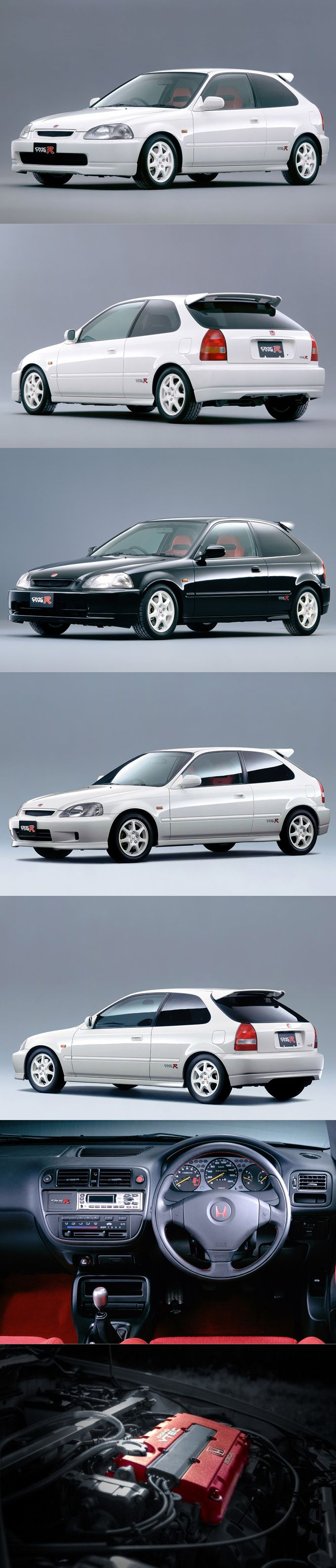 1997 Honda Civic Type R / EK9 / Japan / white black red