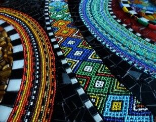 African mosaics by Karla Duterloo and iThemba Curios beaders
