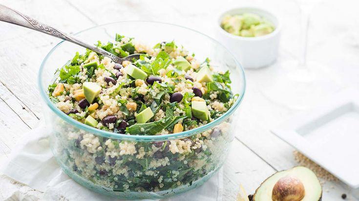 Salade de quinoa au kale et à l'avocat