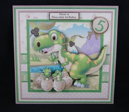 Dinosaur Dino Mite Birthday or Father s Day Mini Kit Ages on Craftsuprint designed by Janet Briggs - made by Carolyn Norris
