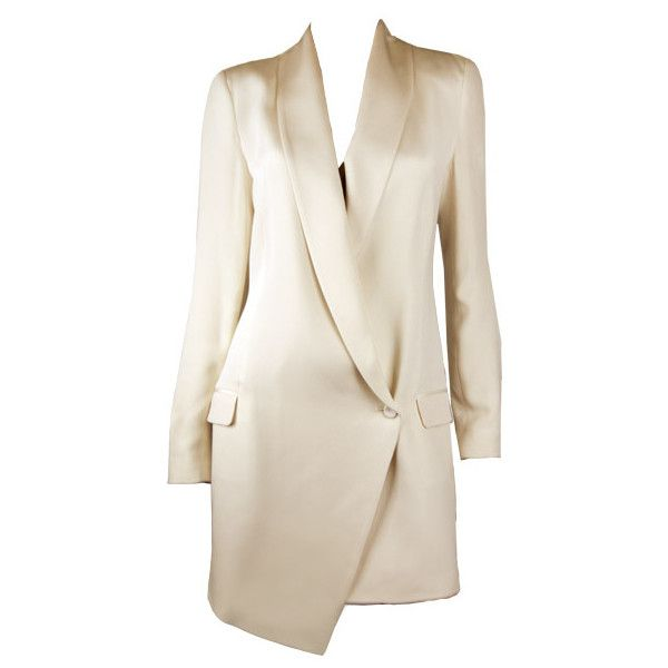 Haute Hippie Off White Blazer Dress ($645) ❤ liked on Polyvore