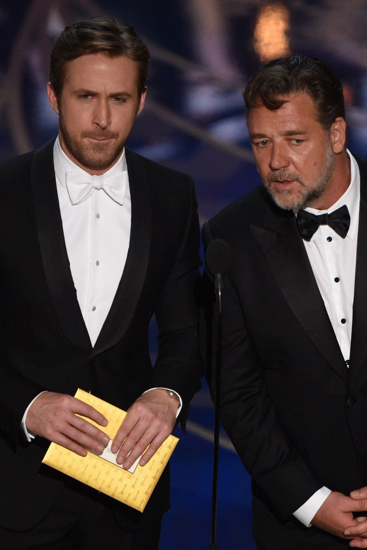 Ryan Gosling and Russell Crowe's Oscars Bit Is Guaranteed to Make You Laugh