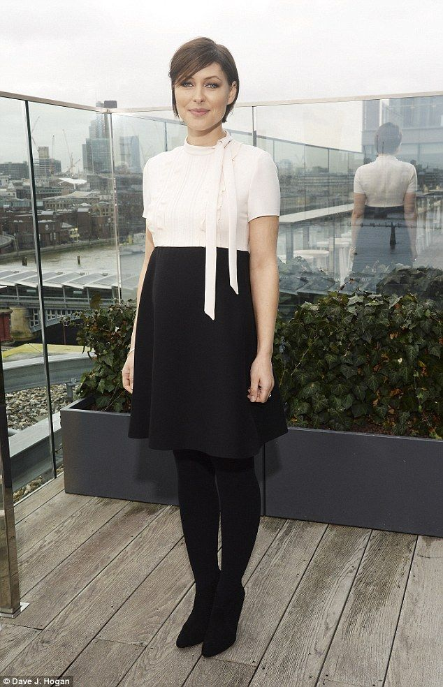 Debut! Pregnant Emma Willis gave a glimpse of her bump for the first time at The Voice UK launch on Monday