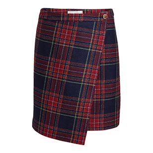 Kostkovaná zavinovací sukně  - Lindex