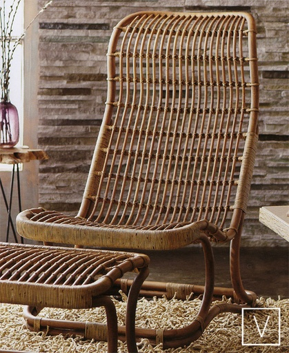 Anders High Back Wicker Chair