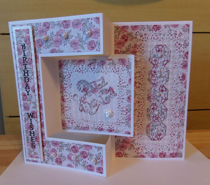 Made by Sue Kitching - This was my first attempt at making a card - tri fold card