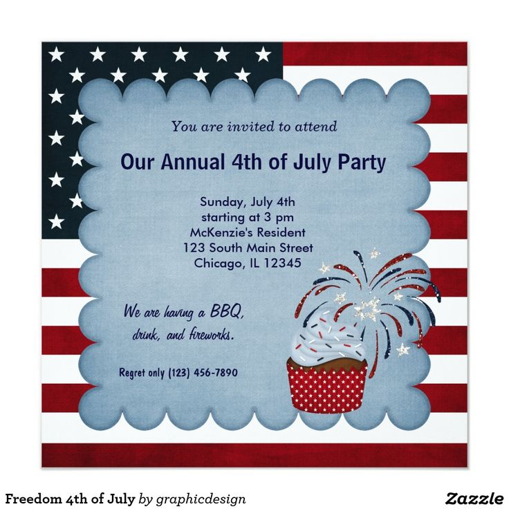 112 best 4th of july invitations images on pinterest party freedom 4th of july card stopboris Images