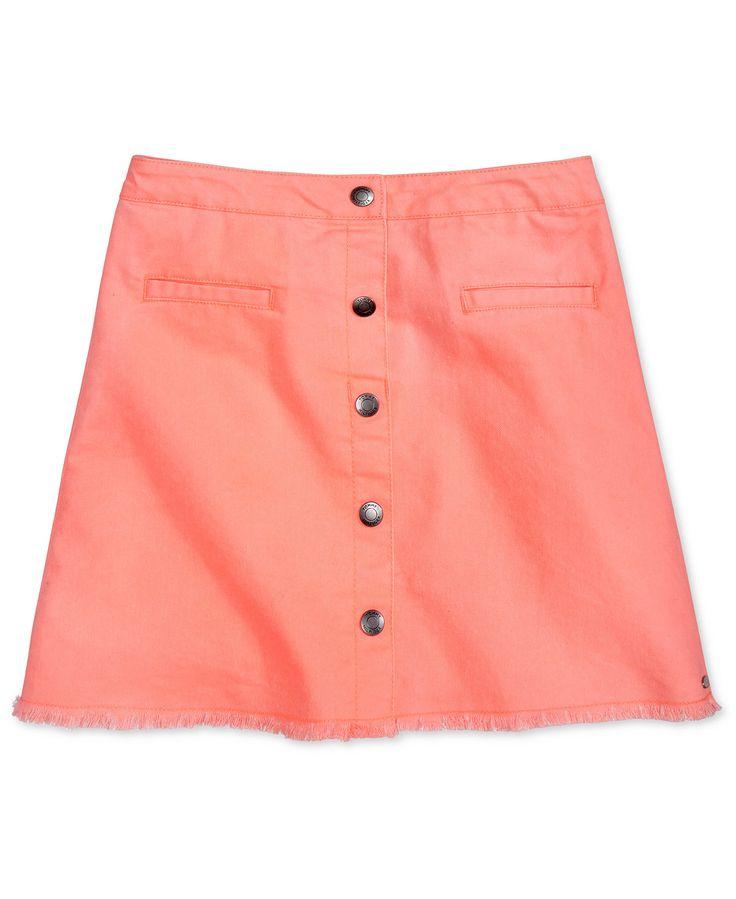 Tommy Hilfiger Snap-Front Denim Skirt, Big Girls (7-16) - Skirts - Kids & Baby - Macy's