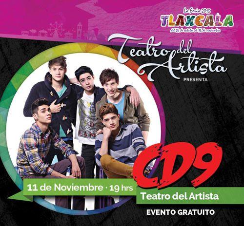 CD9 en Tlaxcala la Feria. La boyband juvenil Mexicana del momento