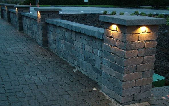 Retaining Wall Lights Low Voltage : 114 best images about clarksville patio on Pinterest Hot tub deck, Stone patios and Stone ...
