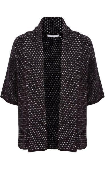 Kimono tricô Ateen - preto