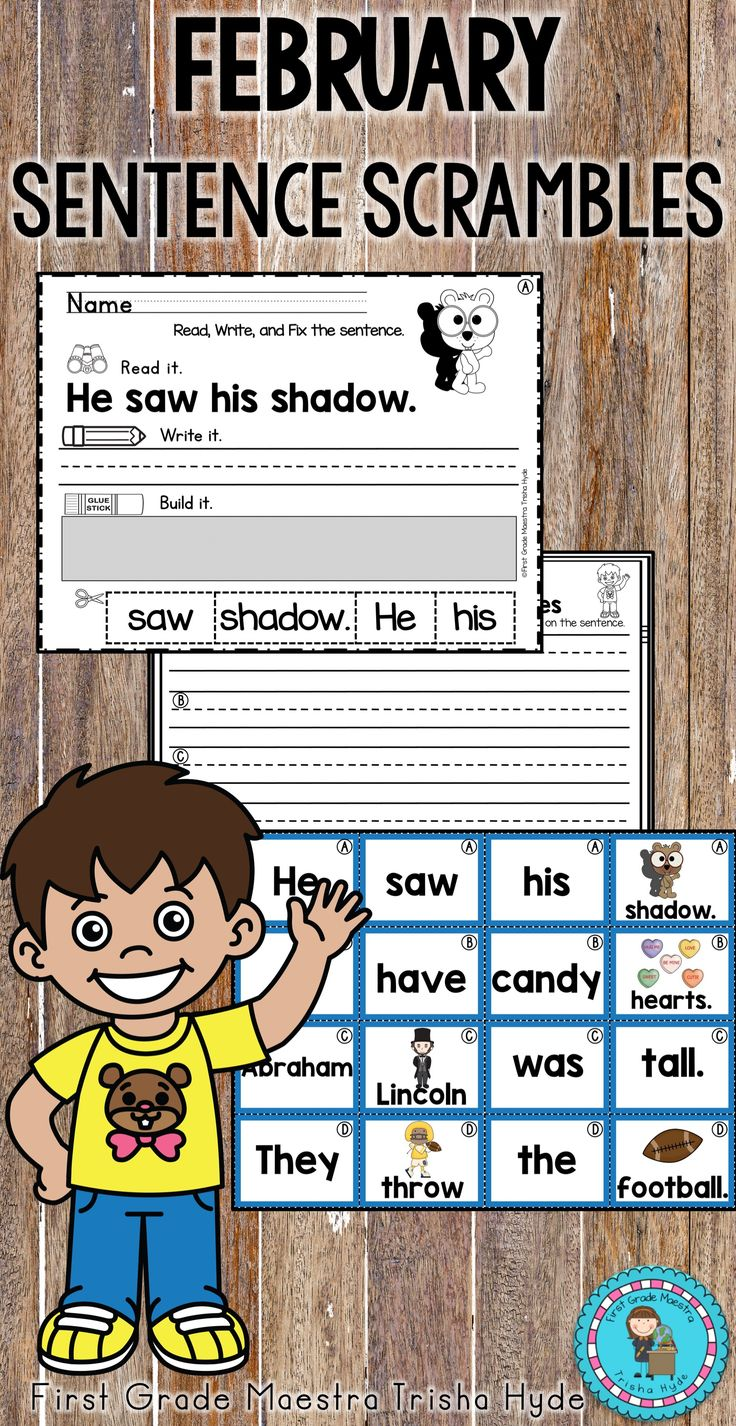 Your students will love these February sentence scramble worksheets and literacy station center. This is high engagement and low prep!  Students can complete the worksheet independent of the literacy center or after building the sentence at the literacy center.  February Topics include Groundhogs Day, Super Bowl, Valentine's Day, Dental Health Month, and Presidents' Day.  Click the Visit Button to see all of the great resources in this product.