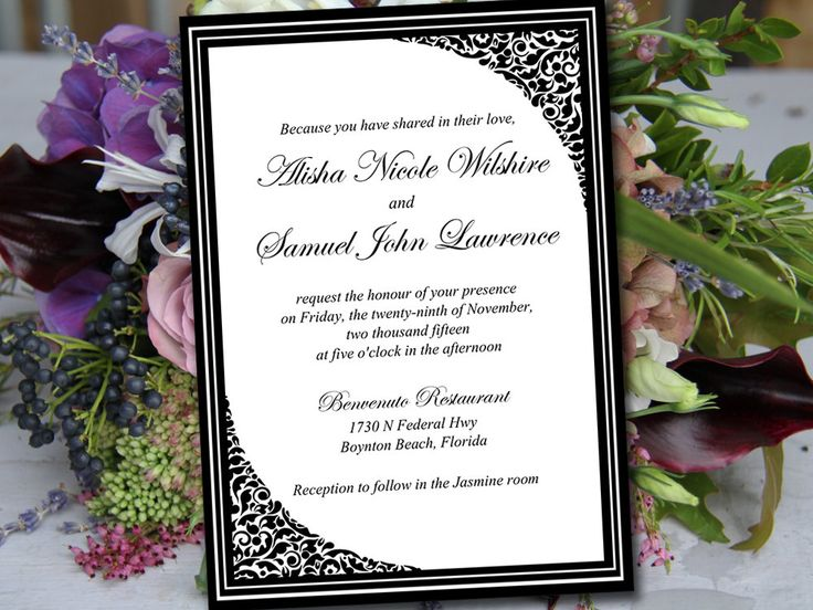 Formal Wedding Invitation Templates: 25+ Best Formal Invitations Ideas On Pinterest