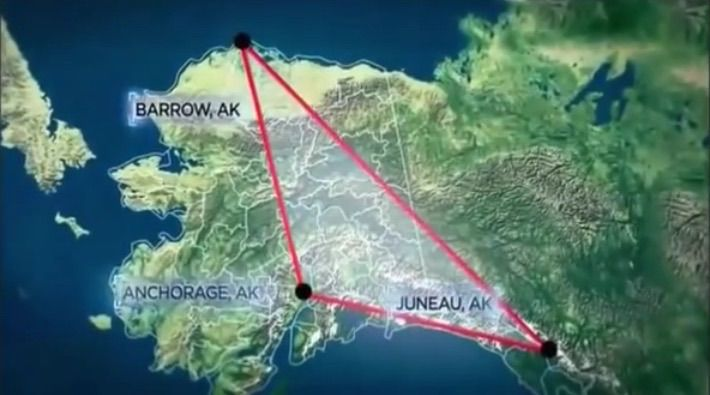 "In the world there are places where people just disappear. One of which is located in Alaska and it has been called ""The Alaska Triangle""."
