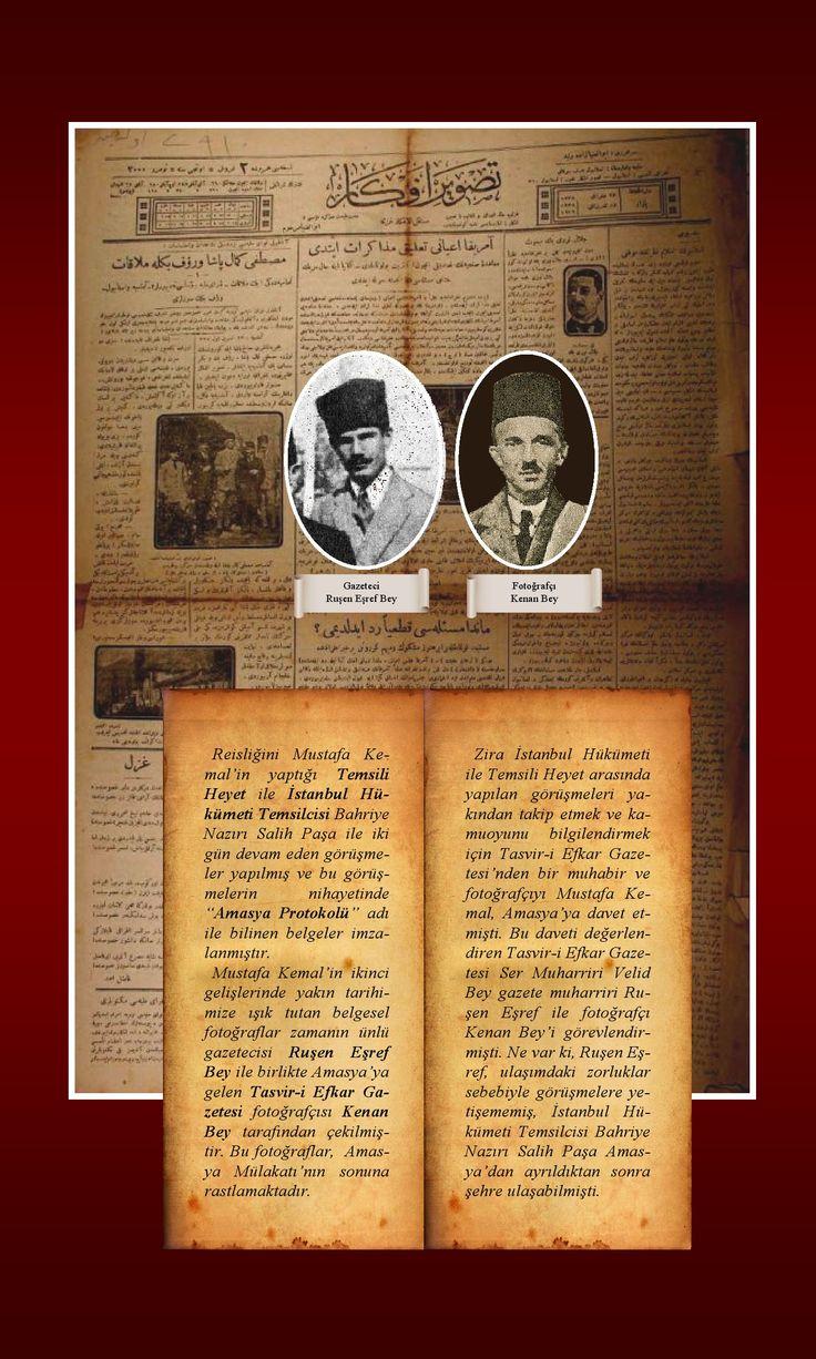 Sivas Kongresi sırasında çekilmiş olduğu yazılan bu fotoğraflar aslında Sivas'ta değil Amasya'da çekilmiştir. İşte belgeler.....