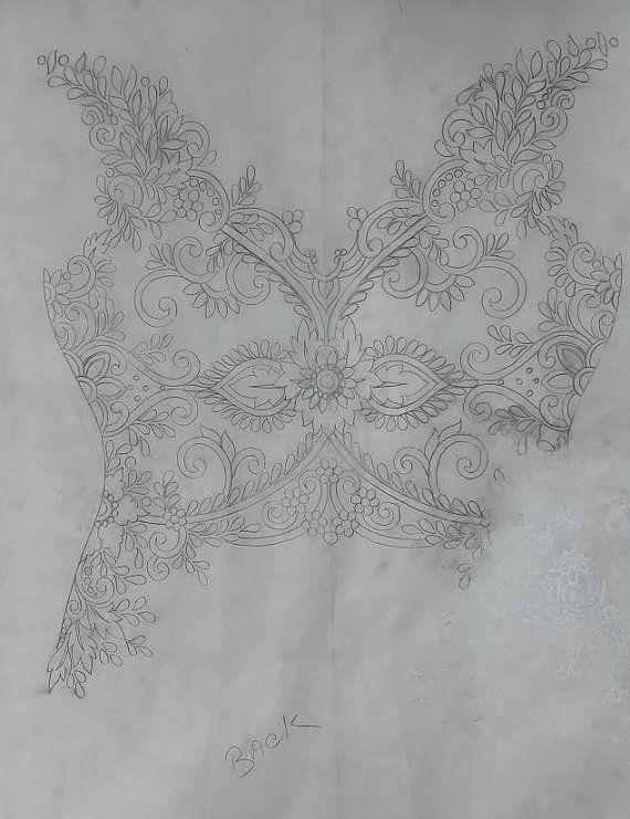 Mano con cuentas y bordados de boda vestido blusa por allysonjames