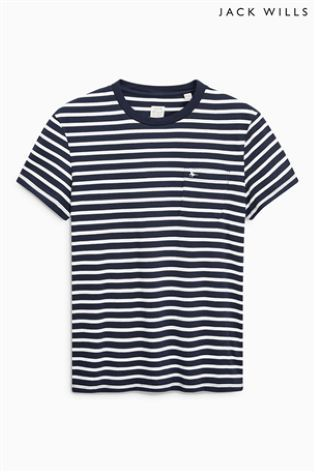 Buy Jack Wills Navy Camberwell Stripe T-Shirt online today at Next: Israel
