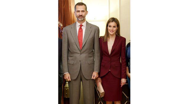 La reina Letizia vista EE.UU. y estrena traje de Hugo Boss