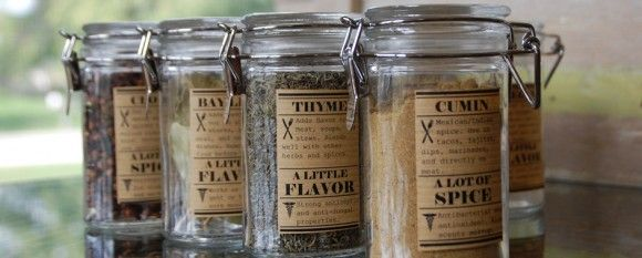 organize your spice jars and make them look cute! The link clicks through to a downloadable PDF for the spice jar labels