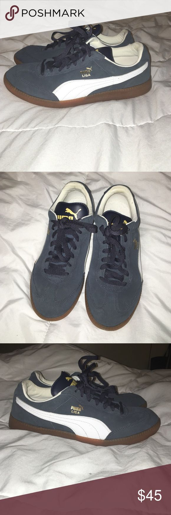 Puma Liga size 8.5 Worn once and are super comfortable sporty casual sneakers Puma Shoes Athletic Shoes