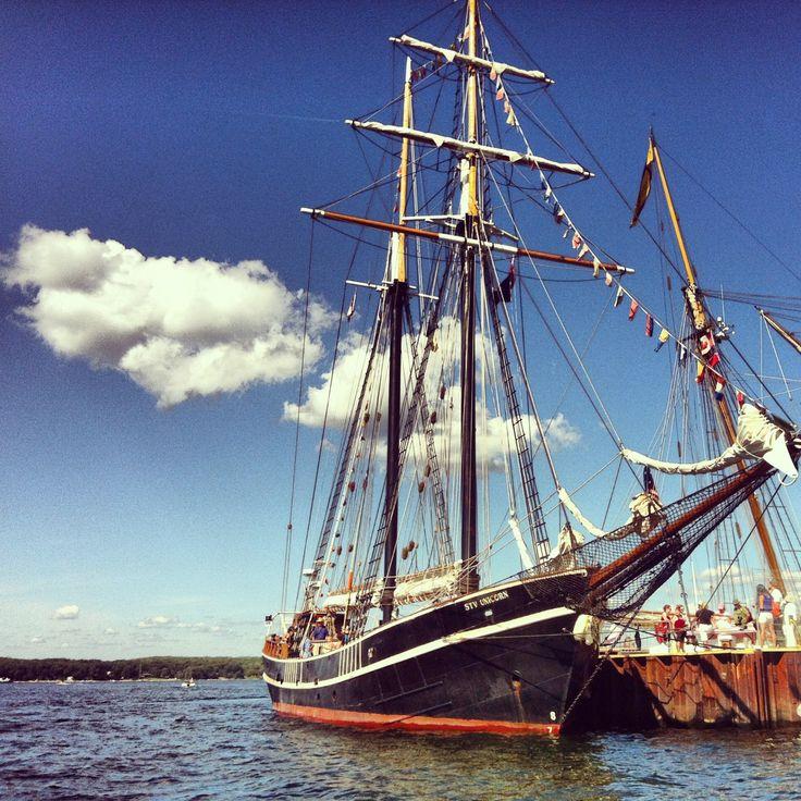 Tall ships arrive in Penetanguishene, Ontario
