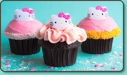 Hello Kitty Cupcakes from @TrophyCupcakes
