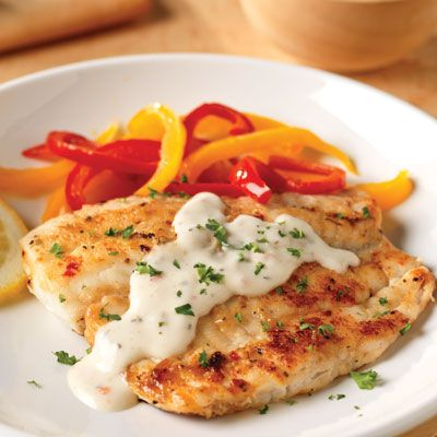 Pan-Fried Fish with Creamy Lemon Sauce for Two. Check out this crispy tilapia with its luscious lemon sauce, and doubt smart seafood no more.