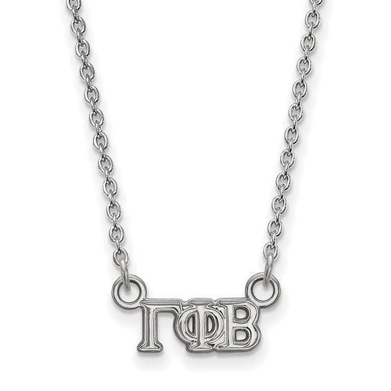 Zales Black Enamel Gamma Phi Beta Sorority Necklace in Sterling Silver 0uErGhP