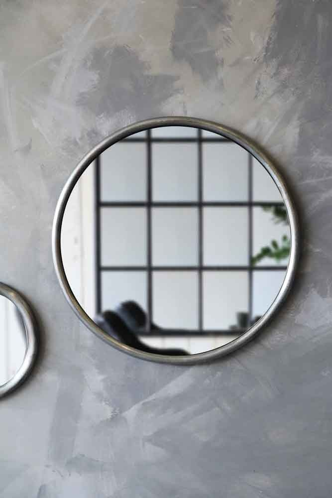 Antique Zinc Style Round Mirror - Large from Rockett St George