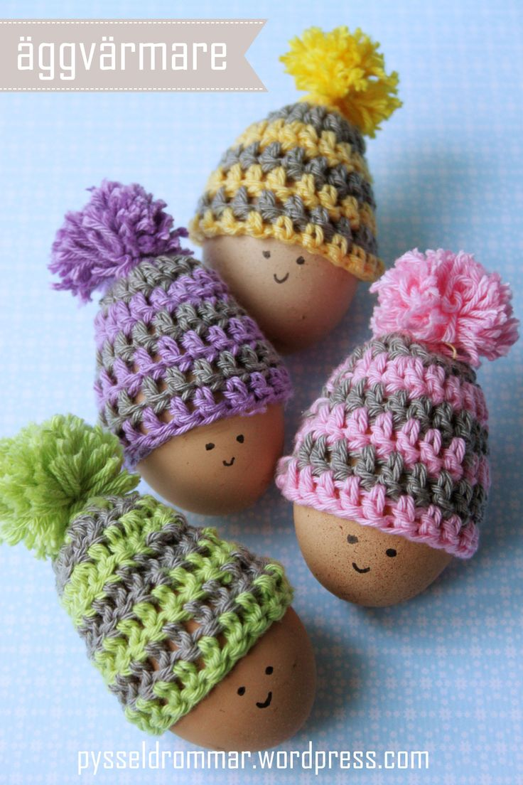 109 best easter knitting and crochet patterns images on pinterest diy cute easter egg hats handmade easter eggs hats with face eg decoration simple crochet easter crochet hats 4 pcs crochet hats for easter gift cute and negle Gallery