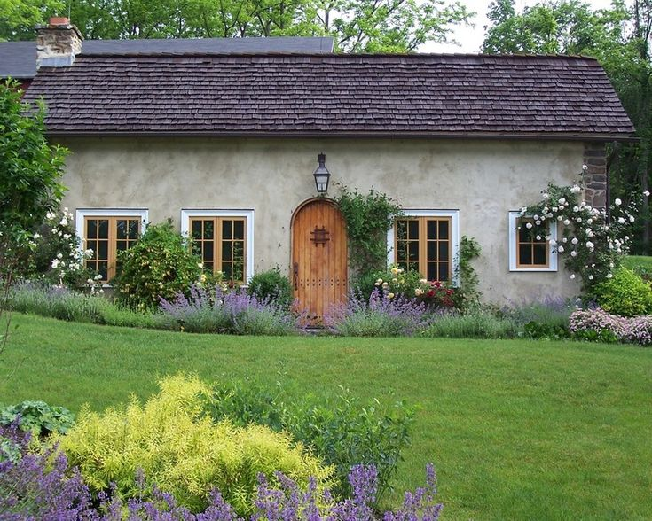 cottage with simple and wonderful landscaping