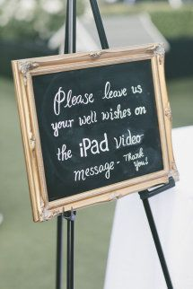 quite a nice idea rather than traditional guest book!