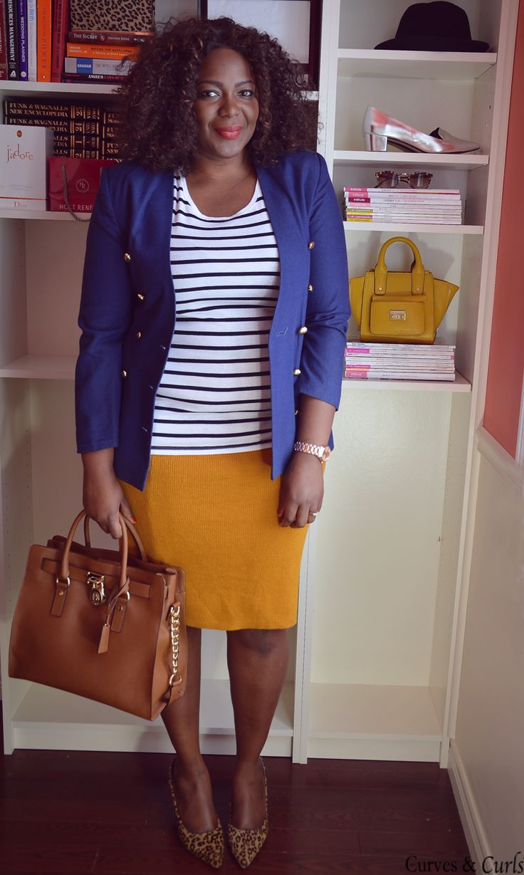 My Curves & Curls™ | A Canadian Plus Size Fashion blog: Closet remix: ONE MUSTARD SKIRT 3 WAYS