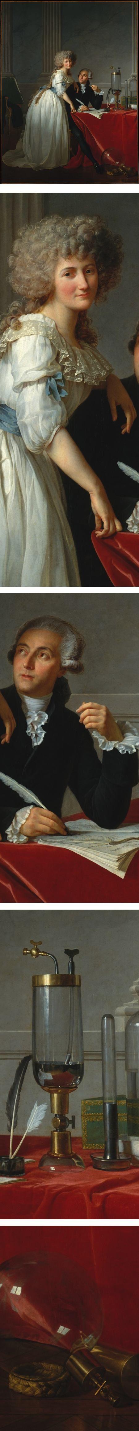 Antoine Lavoisier - Chimiste français. Grâce à la précision de ses expériences et à son esprit de synthèse, Lavoisier mène à bien l'analyse de l'air, de l'eau et du feu, et établit le principe de conservation de la matière. Il identifie et baptise l'oxygène (1778) et participe à la réforme de la nomenclature chimique. Lavoisier est souvent considéré comme le père de la chimie moderne.