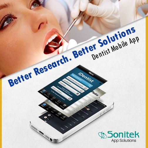 We Offer Feature-rich Mobile Applications for Dentists.  Visit: http://www.sonitekapps.com/ ‪#‎MobileApps‬