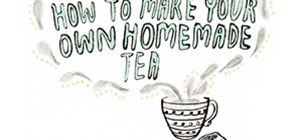 The next time you are in the mood for a hot drink, make your own tea bags to brew at home. Grab your favorite herbs and spices from your garden or your local supermarket. Mix and match your favorite combination, add to an empty tea bag, and steep in hot water. Voila--instant one-of-a-kind tea and instant brownie points for your DIY street cred.