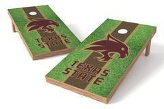 Texas State Bobcats Single Cornhole Board - Field