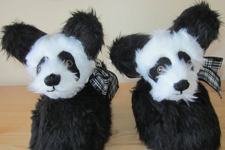 Panda Head Slippers Made to Measure Unisex Footwear  Black and White Slippers Mom Gift Gift for Wife Gift for Grandmother Fathers Day Gift.