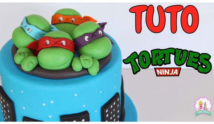 •♡• Tortue Ninja 2 sort bientôt au cinéma, et à cette occasion je vous propose un tuto décoration de gâteau pâte à sucre sur ce thème ! La cake design n'aura...