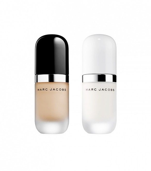 Marc Jacobs Re(marc)able Full Coverage Foundation [Left] paired with Marc Jacobs Under(cover) Perfecting Coconut Face Primer [Right]