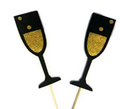 Photo Booth Props / Wedding photo booth props / Birthday photo booth props / Photobooth props/ Champagne glasses via Etsy
