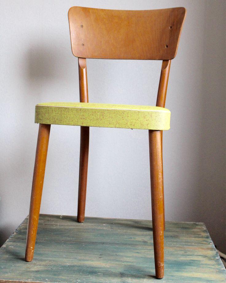 Vintage jaren 50 stoel met skai