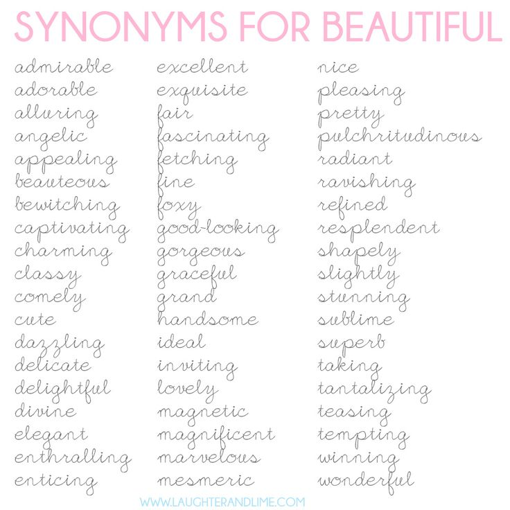 Synonyms for beautiful :)