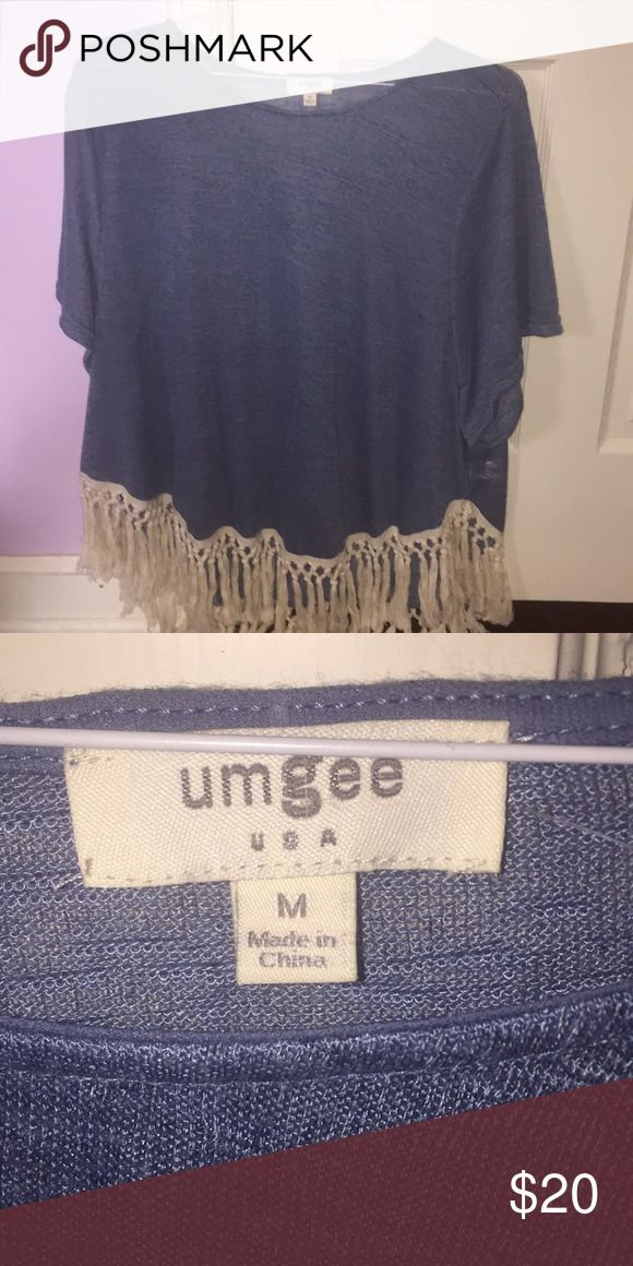 Adorable Fringed Blouse Brand new Fringed Blouse. Only worn once. Medium but oversized! Tops Blouses