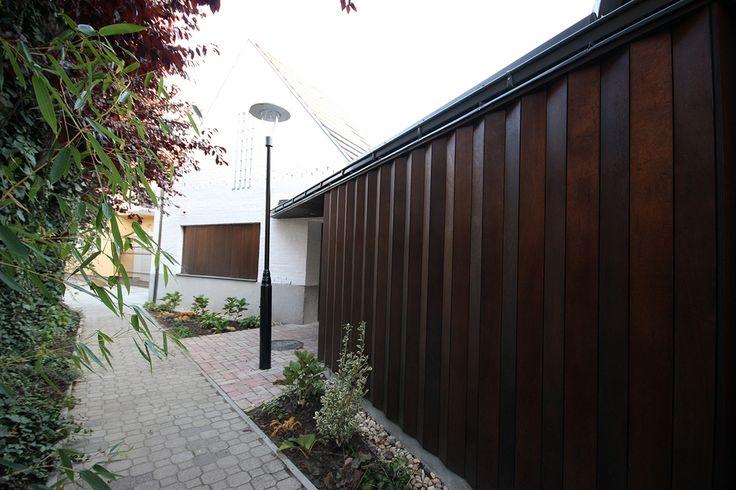 kültéri falemez burkolat, kerítés funkcióval