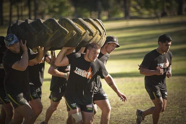 2013 Canberra Raiders preseason: Canberra Raiders attend a Raiders tuff mudder camp.