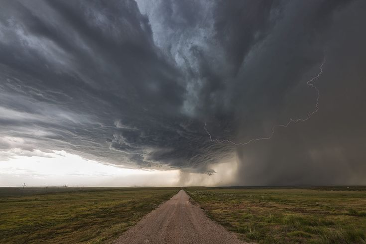 Beautiful supercell thunderstorm over the Texas panhandle in June. This storm produced softball sized hail and 90 mph winds. It moved VERY slowly across the countryside later afternoon and evening. It was fun photographing and watching as it changed in character minute by minute. Check us out at www.silverliningtours.com .