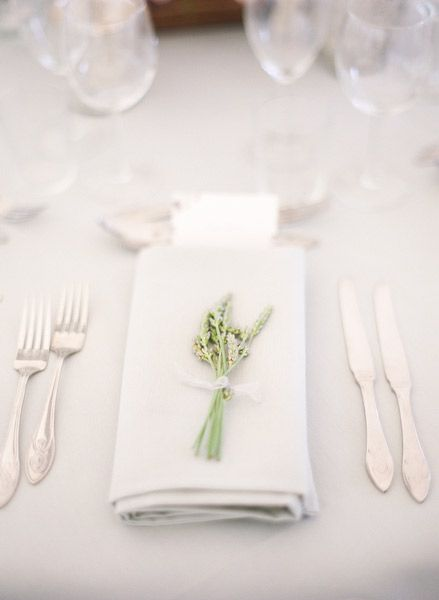 Table Setting: I'm thinking of using plastic and probably not cloth napkins. but a set up like this would work because you would want the plates on the buffet line.