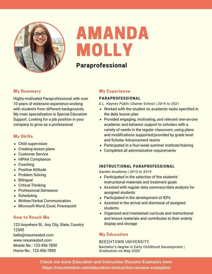 Resume action words Paraprofessional Resume Samples